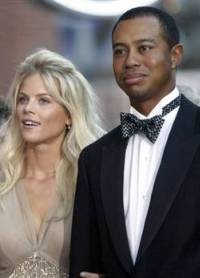 Tiger Woods and wife Elin in happier times