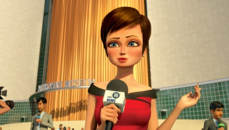 Tina FEy is Roxanne in Megamind