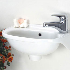 small wall hung sink