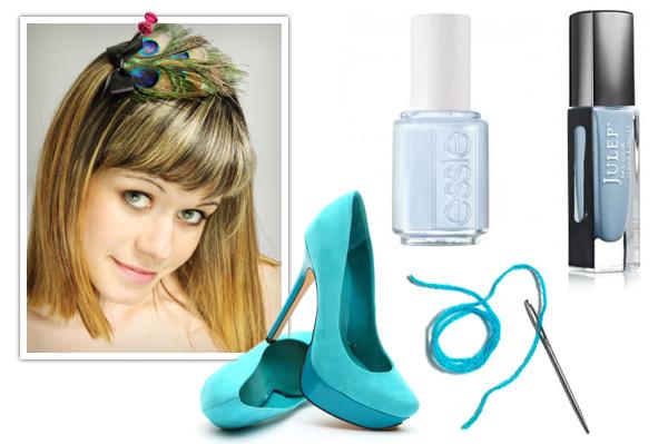Blue wedding accessories