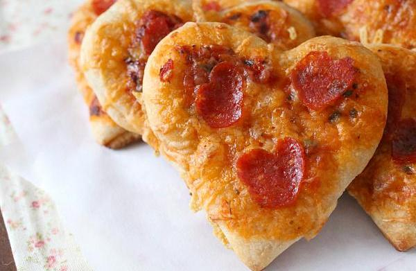 Show your love with heart-shaped pizza