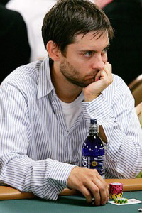 Tobey Maguire playing poker