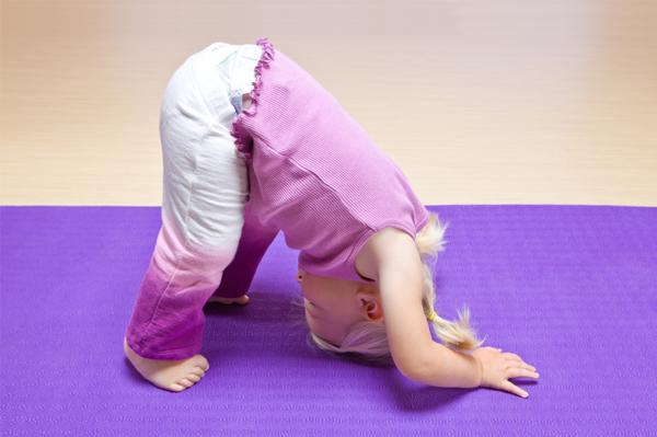 Toddler Girl Doing Yoga