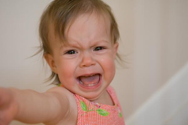 Toddler having a temper tantrum
