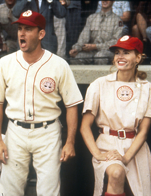 Tom Hanks and Geena Davis