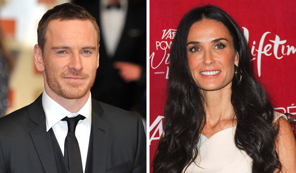 Michael Fassbender and Demi Moore