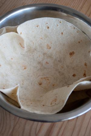 Tortilla in bowl