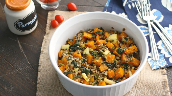 Meatless Monday: Farro-butternut squash bake is