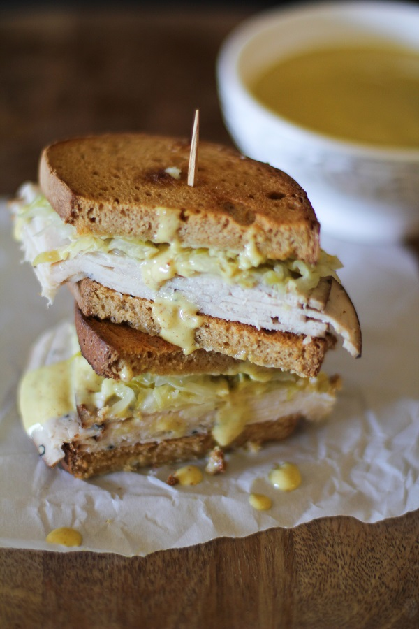Healthy sandwich recipes turkey reuben.