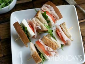 Turkwy sandwich kebobs