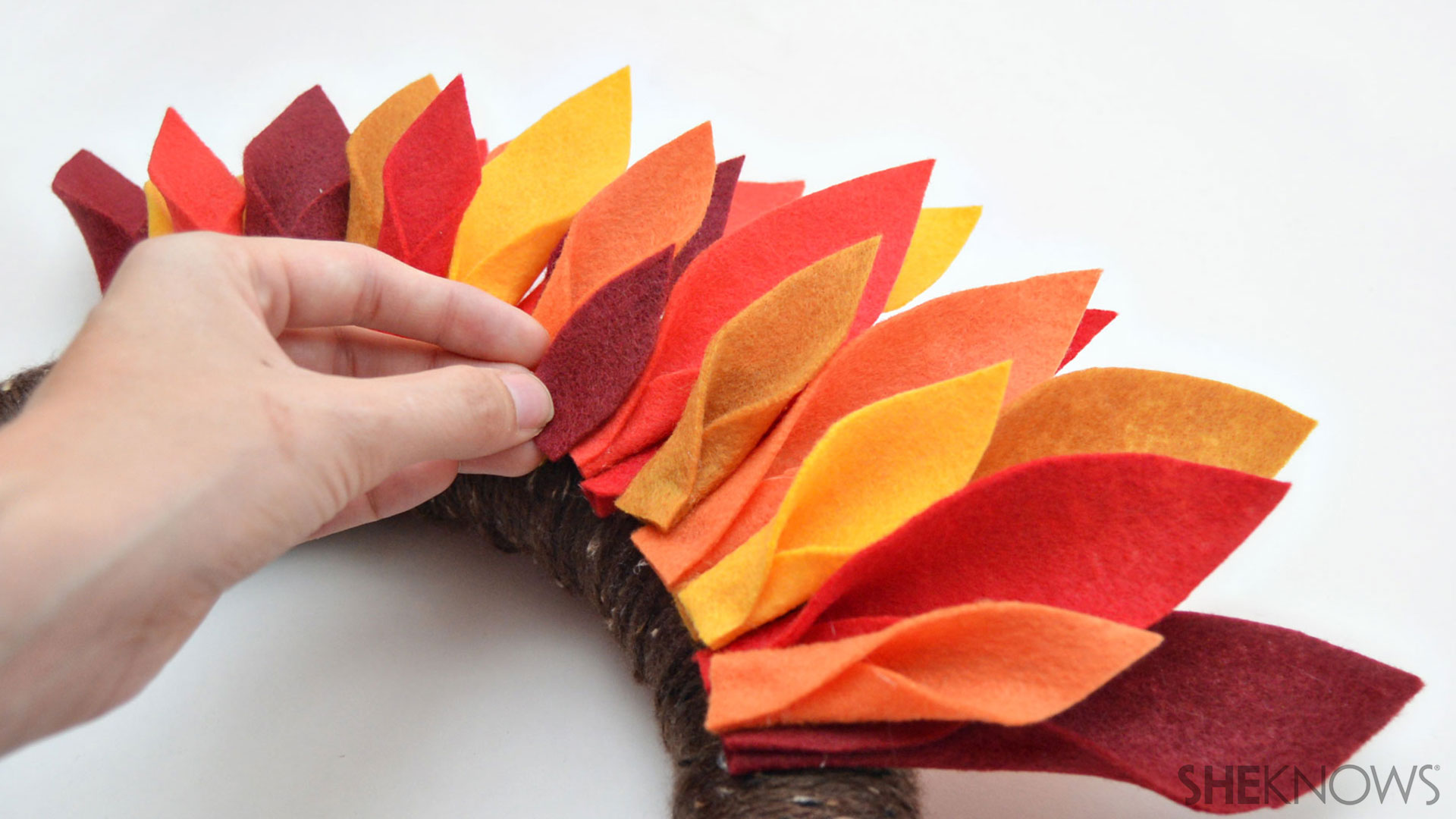 Turkey wreath | Sheknows.com - step 6