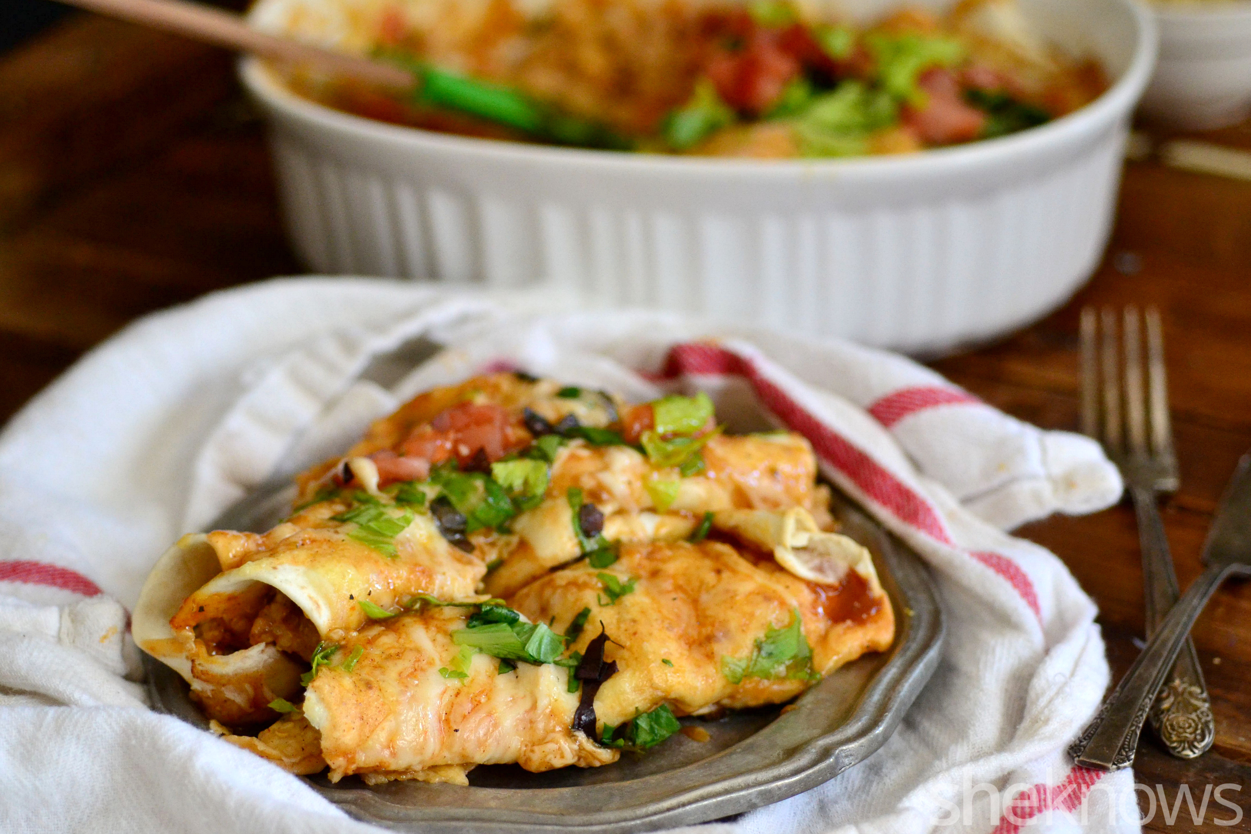 turkey quinoa enchiladas