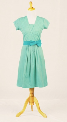 urquoise cotton frock
