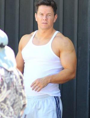 Mark Wahlberg's muscle-bound in Pain &