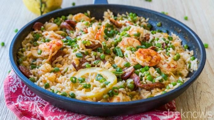 One-Pot Wonder: Chorizo and shrimp rice