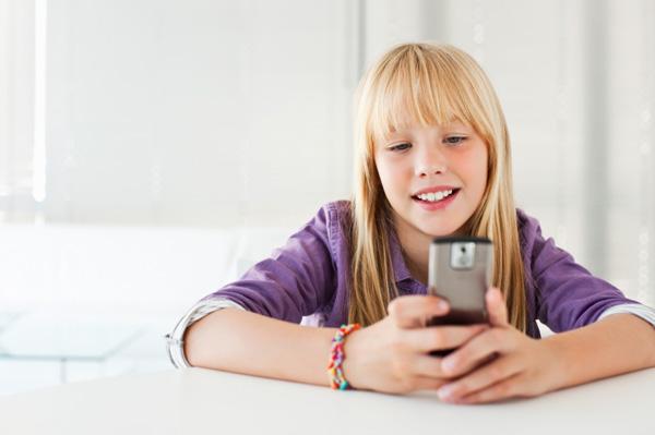Tween on cellphone