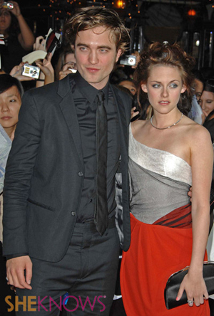 Robert and Kristen at the Twilight premiere