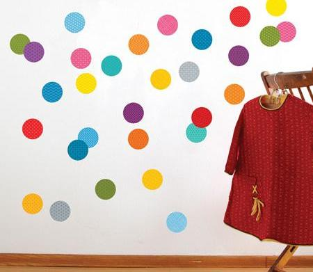 Nursery decorating idea: Playing with polka