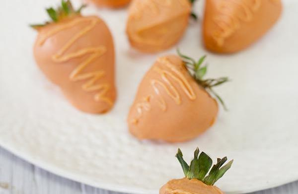 "Chocolate ""carrot"" strawberries are sweeter than"