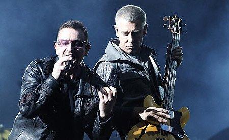 Adam Clayton and Bono live in Pasadena