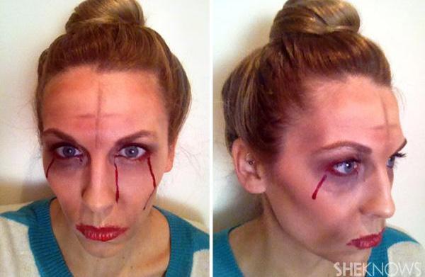 Halloween makeup how-to: Zombie Marie Antoinette