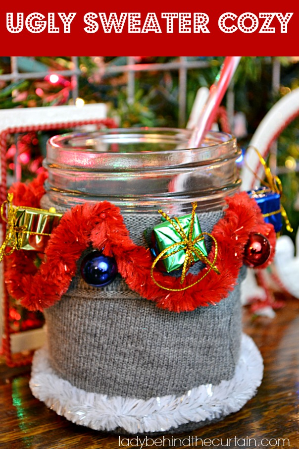 ugly sweater drink cozy coozie