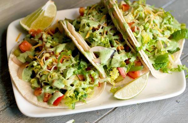 Summer veggie tacos with spicy avocado