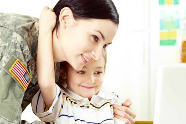 Military moms: Parenting from a distance