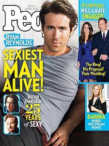 Ryan Reynolds is People's Sexiest Man