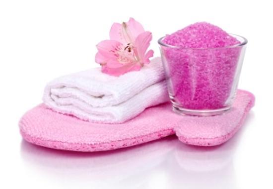 Natural spa-like body scrubs