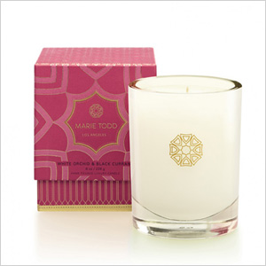 Marie Todd White Orchid & Black Currant Candle