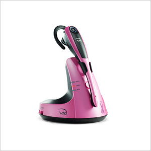 VXi's V100 Pink Ribbon Wireless Headset