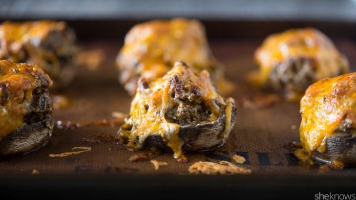Cheesy chorizo-stuffed mushrooms — a drool-worthy