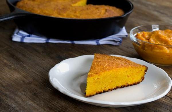 Gluten-free sweet potato skillet cornbread