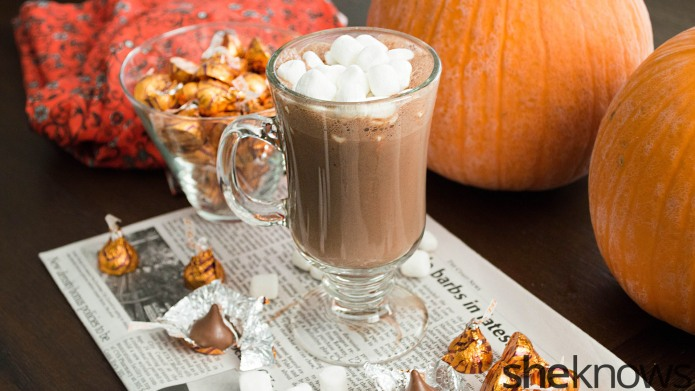 The easiest homemade hot chocolate drink