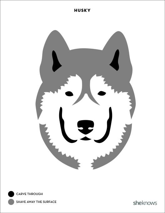 17 Printable dog breed pumpkin carving patterns