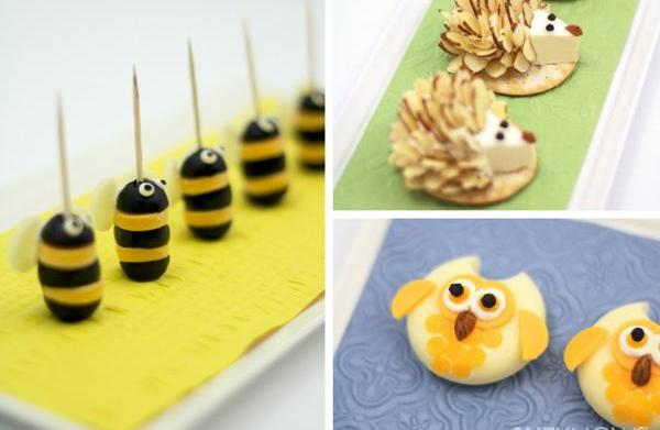Adorably cheesy animal appetizers