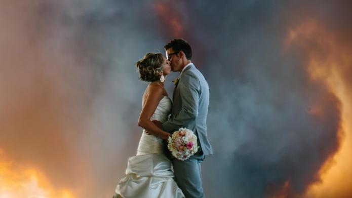 Oregon couple married in a wildfire
