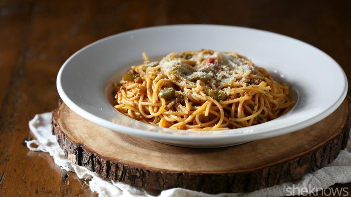 One-Pot Wonder: 3-Meat skillet spaghetti is