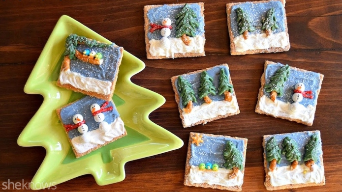 Turn graham crackers into edible canvases