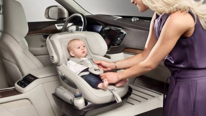 Volvo's car seat concept goes against