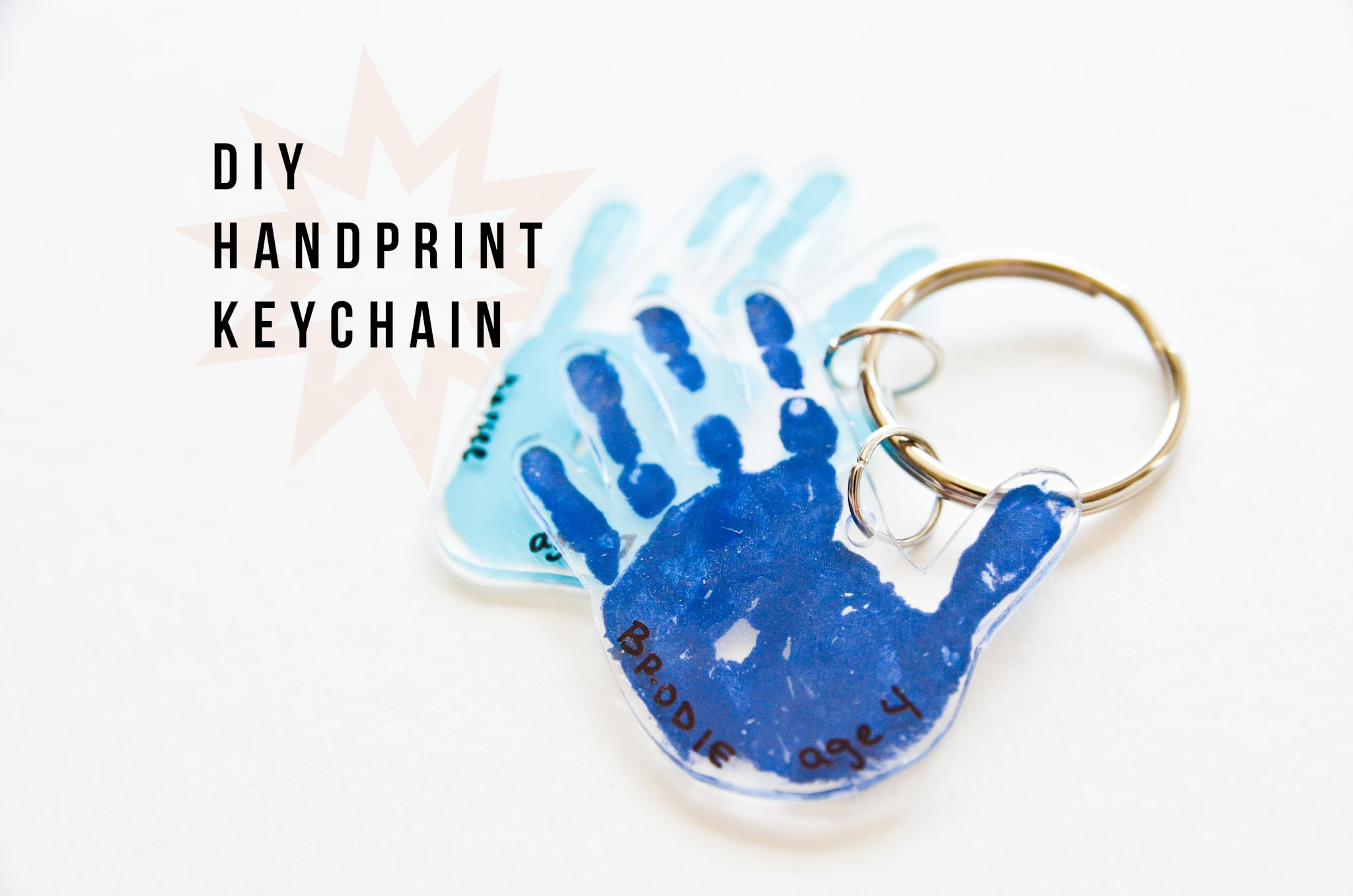 DIY Handprint Shrinky Dink Keychain