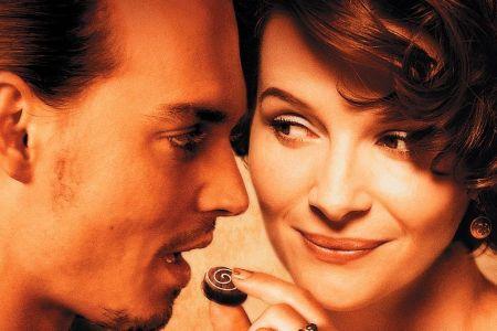 Johnny Depp and Juliette Binoche in Chocolat