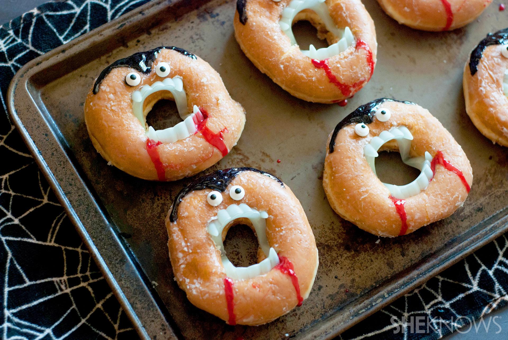 no-bake vampire doughnuts