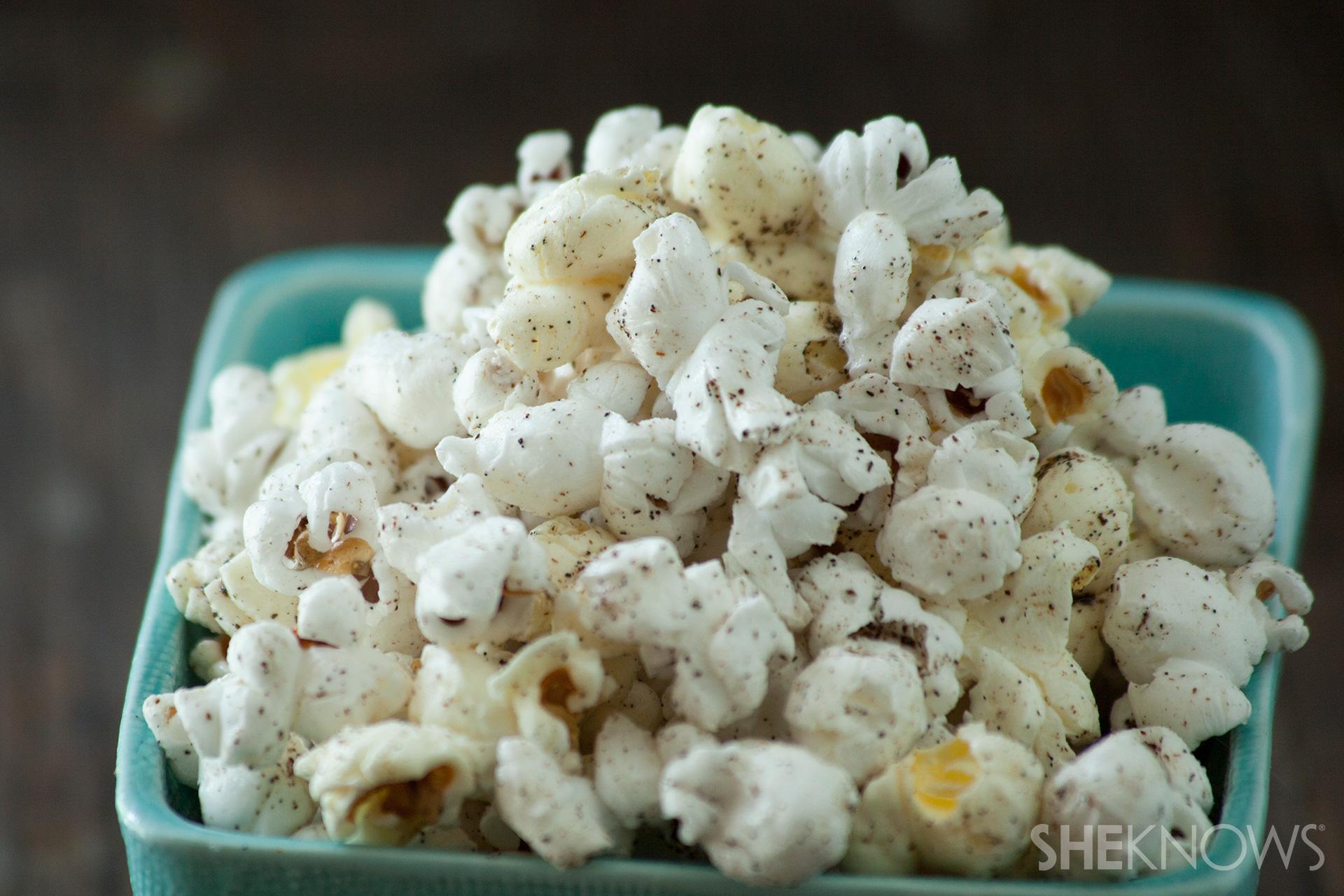 Sea salt and vanilla popcorn