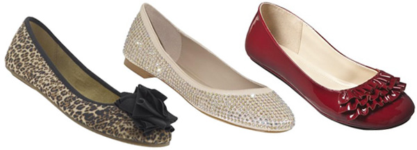 Variety of flat shoes