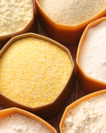 Variety of flours