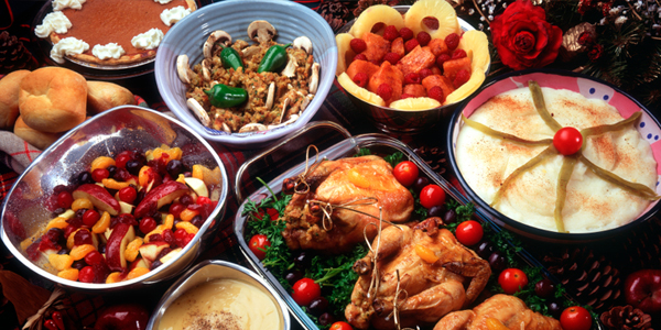 Variety of Thanksgiving Dishes