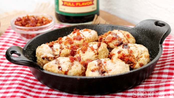 One-Pot Wonder: Skillet biscuits with bacon