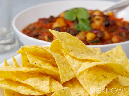 Mexican inspired vegetarian chili